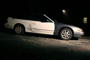 Nissan 240SX Convertible with an S13 Silvia Q's Dual Projector Front End
