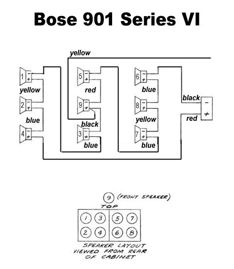 bose 901 speakers series wiring diagram bose wiring diagrams