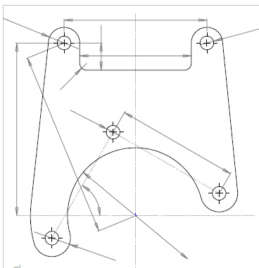 Dimensionless Caliper Bracket Drawing
