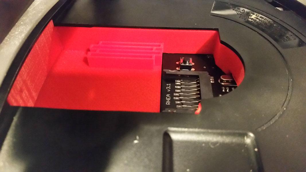 saturn sd karte 3D Printed Tray for Sega Saturn Rhea/Phoebe SD Card Adapter